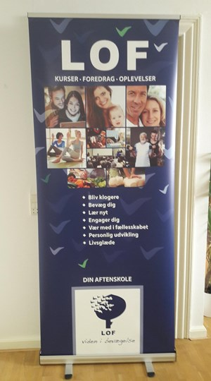 Afdelings roll-up stativ str. 85 x 200